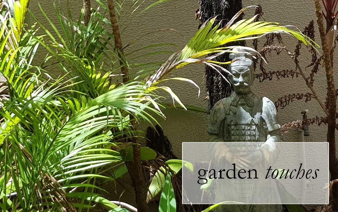 Raintrees Resort garden touches