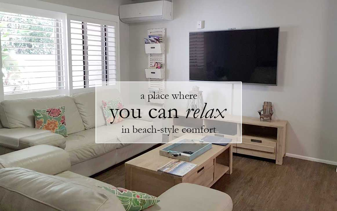 Relax in beach inspired comfort
