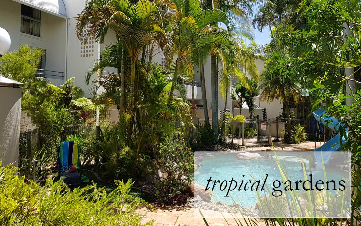 Raintrees Resort Tropical gardens